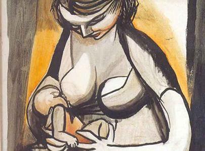 maternità donna che allatta guttuso